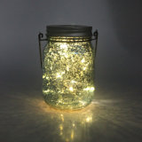 Dark Blue Mercury Finish Fairy Summer Solar LED Jar Light
