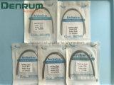 Alambre dental del arco de los Ss de la venta de Denrum del acero inoxidable del alambre ortodóntico caliente del arco