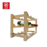 2つの層のホーム家具のワインの棚のための木のワインラック