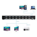 16 divisor de los accesos DVI del interruptor 16 de los canales DVI Kvm