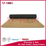Le liège avec la couleur de bande ébrèche le couvre-tapis d'exercice de couvre-tapis de yoga de bande de couleur solide