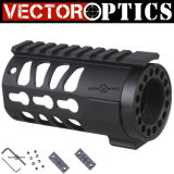 "Vector Optics Keymod 4 ""Pistol Ar 15 Free Float Handguard Rail Mount System com porca de barril para Ar15 / M4 / M16 Pistol Gun Accessories"