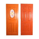 Panel 8 mit glasig-glänzender Mittelbogen-Tür-Haut feuerfest machen
