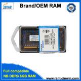 Пожизненная гарантия 1024 * 8 8chips памяти DDR3 1600 8GB для ноутбуков