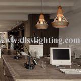 Luz casera pendiente de madera del metal decorativo de lujo para la cafetería