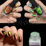 Arco-Íris açúcar Aurora pigmento, espelho cromado cintilantes em pó para as unhas