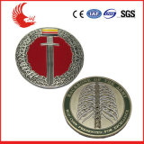 공장 가격 판매 도금 앙티크 고급장교와 페인트 로고 관례 동전