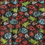 Tartaruga e pelle di Microfiber stampata pesci Peash