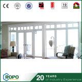 Double porte d'oscillation en verre commerciale d'UPVC pour la Chambre