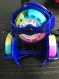 단추 착색된 PU 바퀴를 가진 조정가능한 번쩍이기 롤러 스케이트