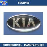 Logo de voiture de marque authentique Emblème de couverture en noir et en argent