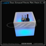 Recargable colorido Vino LED cubo de hielo para la cerveza de almacenamiento