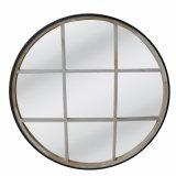 Finestra rotonda dello specchio del cerchio di legno decorativo del blocco per grafici della parete