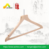 Natural Wooden Suit Hanger with Anti Slip Bar (AHWMH102)