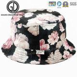 Cappello della benna della protezione di Sun del cappello di pesca sportiva 2017 di alta qualità dello schermo del fiore di stampa del cotone