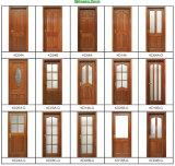 Porte en bois d'acajou (KD06A) (porte en bois solide)