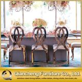 Presidenza di banchetto del metallo dell'oro del coperchio del cuoio della mobilia di evento di cerimonia nuziale
