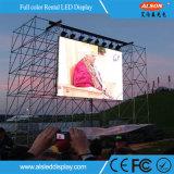 Экран высокого качества P5.95 напольный СИД арендный с изогнутым углом