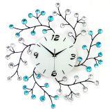 Вращая часы стены подкладки формы цветения для украшения комнаты