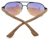 FM17329 Óculos de sol de meio quadro de óculos de sol de aço inoxidável de design novo