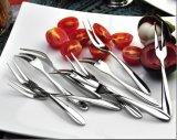 304 fourche en acier inoxydable pour une salade de fruits, gâteaux,