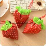 Sac à provisions imperméable à la mode et à grande taille doux à la fraise à grande capacité
