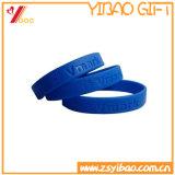 Bracelet coloré de silicones de logo fait sur commande de Debossed