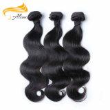 自然で黒く加工されていないバージンの毛のブラジルの織り方の毛の拡張