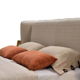 Мода двуспальная кровать дизайн современной спальне Мебель мягкая кровать (G7007)