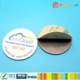 ISO18092 13.56MHz NTAG215 반대로 금속 NFC 레이블 꼬리표
