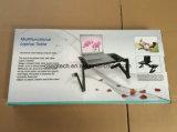 Мини-портативных алюминиевых складная кровать ноутбук письменный стол с электровентилятора системы охлаждения двигателя