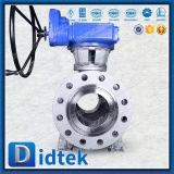 Vávula de bola de alta presión asentada metal antiestático del diseño de Didtek