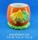 Ciotola di ceramica dipinta a mano della caramella dei pesci