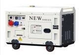 7.5kw elektrische Stille 198f Diesel Generator met Wielen