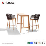 Outdoor teak Wooden bar Chair with Braiding Oz-Or071
