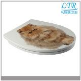 Cubierta de asiento portable de tocador del brillo europeo plástico disponible de la porcelana