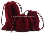 Изготовленный на заказ мешок картины мешка ювелирных изделий Drawstring бархата