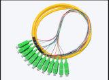 12 Zopf-Faser-Optikzopf-aus optischen Fasernzopf des Kern-Sc/APC Inspektions-Buldle