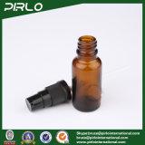 bernsteinfarbige Glasflaschen des spray-20ml mit schwarzem Lotion-Sprüher