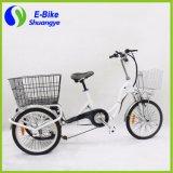 3 Ruedas de carga eléctrica plegable triciclo