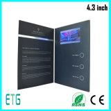 4.3 인치 2017 최신 판매 브로셔 LCD 인사장