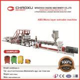 Maletín de equipaje ABS fabricando línea de producción de extrusores de plástico