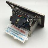 Edelstahl 120*120mm 250V/10A knallen oben elektrische Fußboden-Netzdose