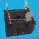 Модуль Kbpc3510 выпрямителя по мостиковой схеме одиночной фазы с алюминиевым основанием