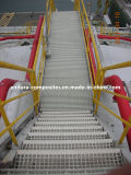 GRP/FRPの手すりか反紫外線か耐火性またはプロフィール