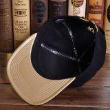 黒6のパネルの綿の平らな縁の急な回復の帽子