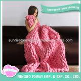 Couverture en crochet en acrylique tricotée en laine de haute qualité