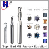 2/3 Flautas de carboneto de sólidos de tungsténio Flat Square Mill Ball Ponta Mill para alumínio
