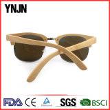Солнечные очки бамбука логоса верхнего сегмента Ynjn естественные изготовленный на заказ