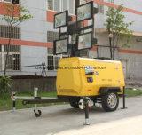 Torre ligera móvil hidráulica controlada electrónica portable